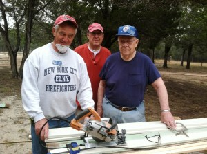 Another photo-op for Don, Joe and Roger in the trim-out phase.