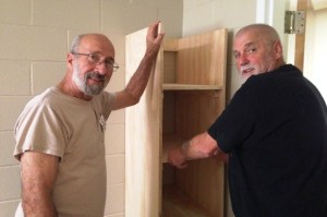 Mike and Russ did the installing of the wardrobes. as well as wall repair, painting. prepping, etc.