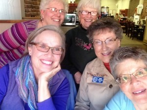 Ladies enjoying a time of fellowship. (Clockwise from Lower Left) Stephanie, Cheryl, Judy, Janet and Jenny