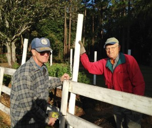 Roy and Vern worked on the garden as well as doing a lot of landscaping.