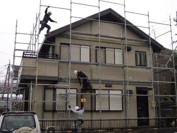 屋根瓦 修理と外壁塗装 工事 イメージ
