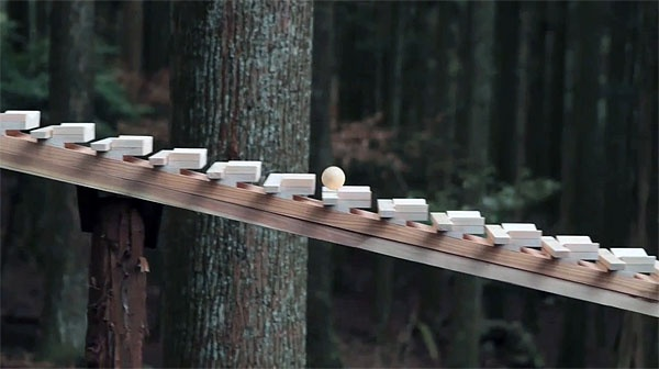 Xylophone in the woods