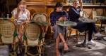 Three women at a cafe in Le Marais.