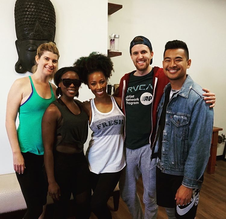 Britteny Rogers with fellow Trap Yogis.