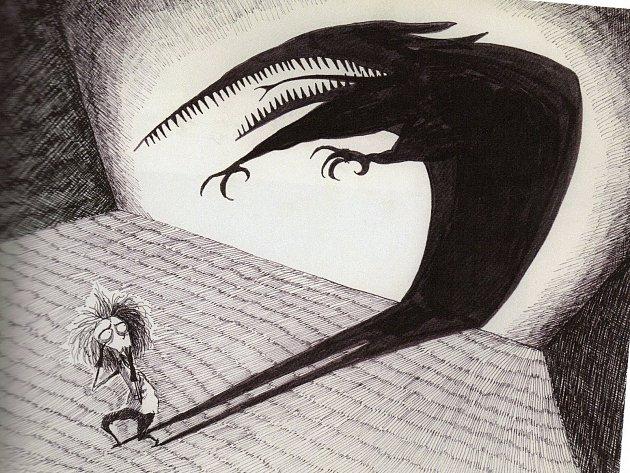 "An illustration from Tim Burton's 1982 film ""Vincent."""