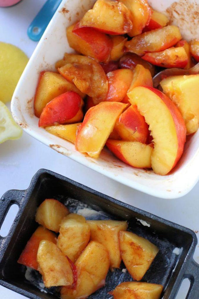 Nectarine Crumble Recipes | www.onbetterliving.com