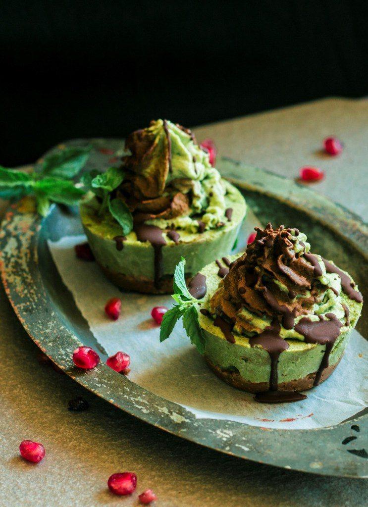 Chocolate Mint Ice-Cream Cake Treats Vegan