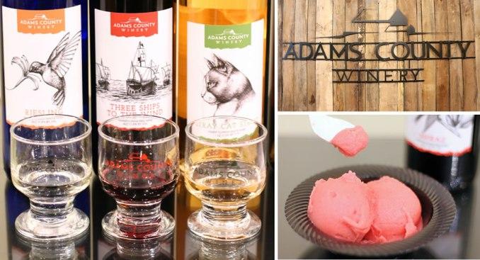 Adam's County Winery Wine And Wine Sorbet In Downtown Gettysburg Pennsylvania