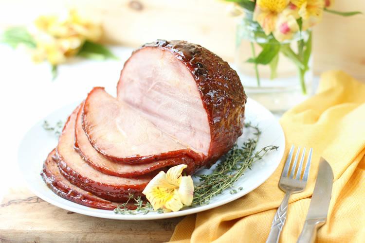 Easter Ham Recipe: Peaches,Honey And Wine Glazed Ham