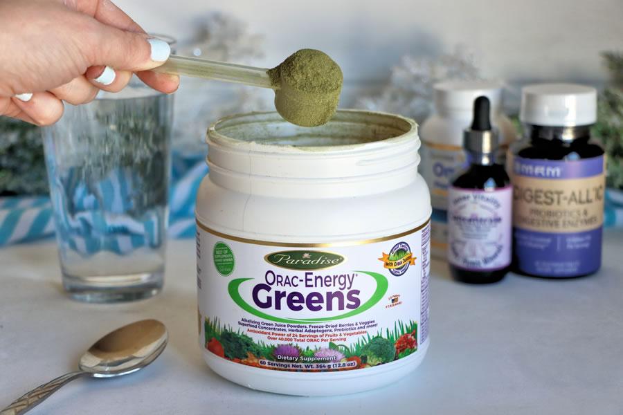 orac energy greens superfood in winter