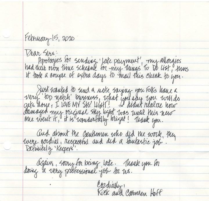 Hoff letter