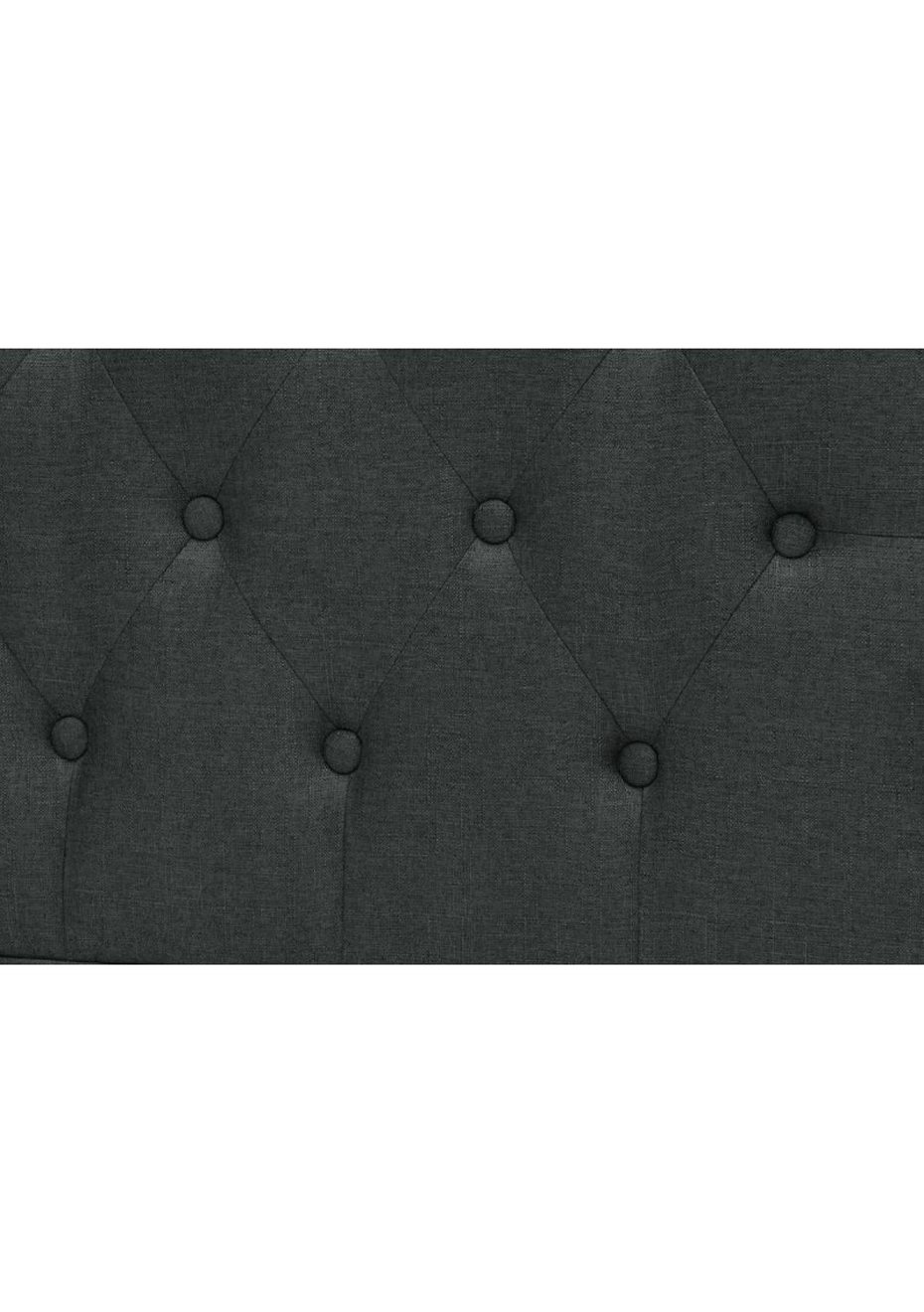 Super King Stand- Fabric Headboard - Charcoal