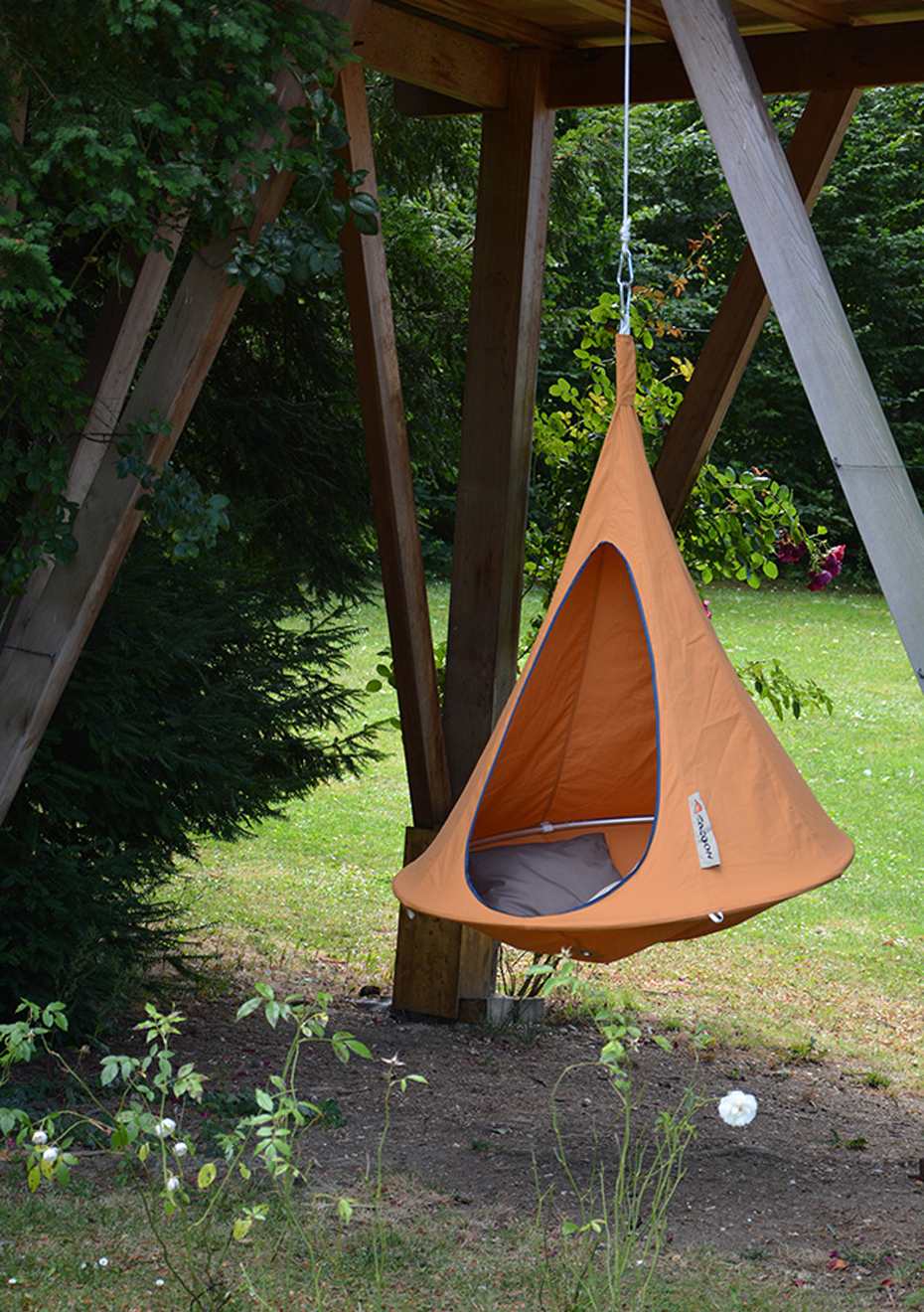 Cacoon Hanging Chair Cacoon Cacoon Bonsai Orange Mango Hanging Chair