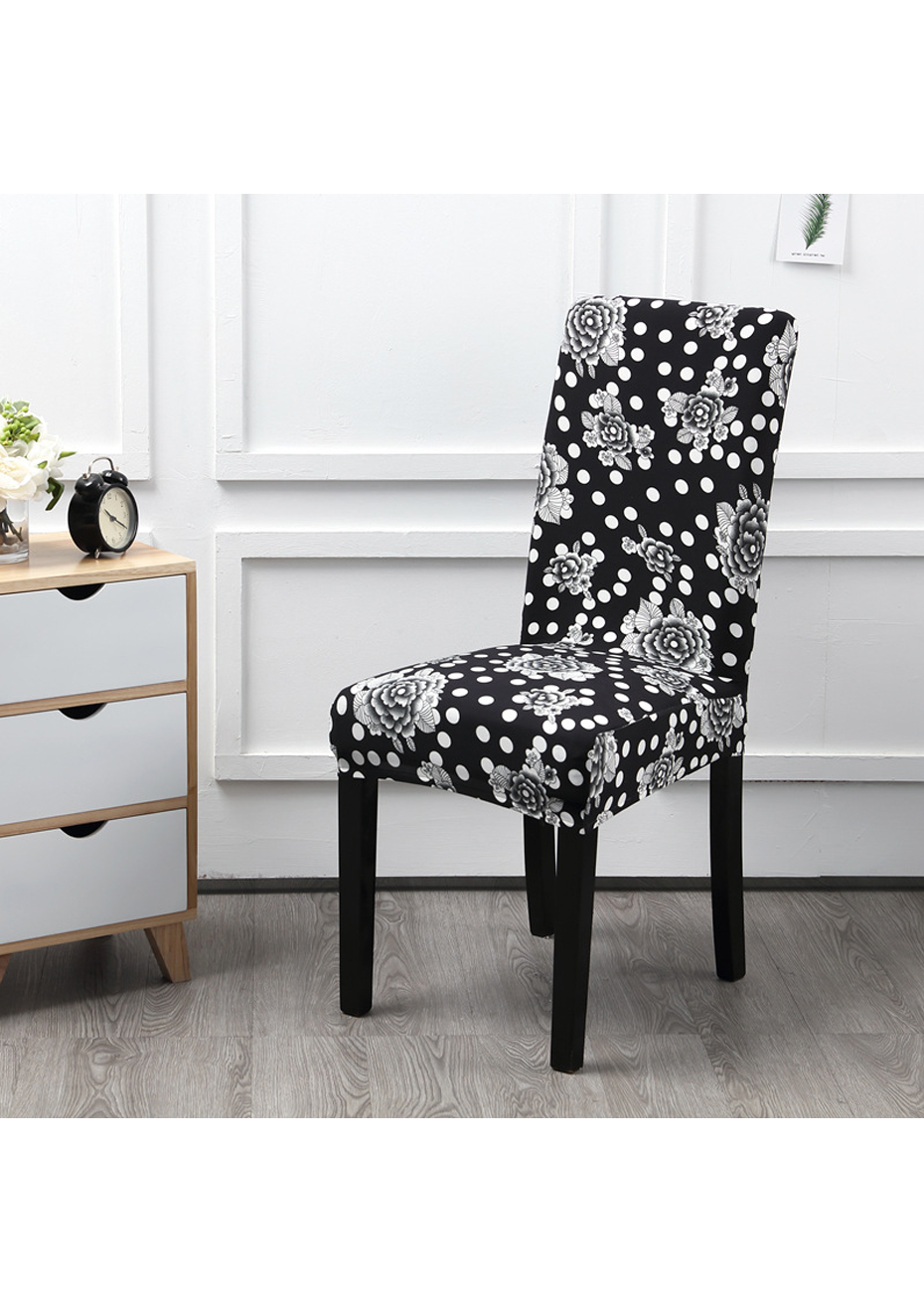 Dining Chair Slipcover Dining Chair Slipcovers Set Of 4 Black Flowers