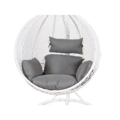 Hanging Chair Big W Desk Kohls Betalife Outdoor Rattan Swing White The Furniture Sale Onceit