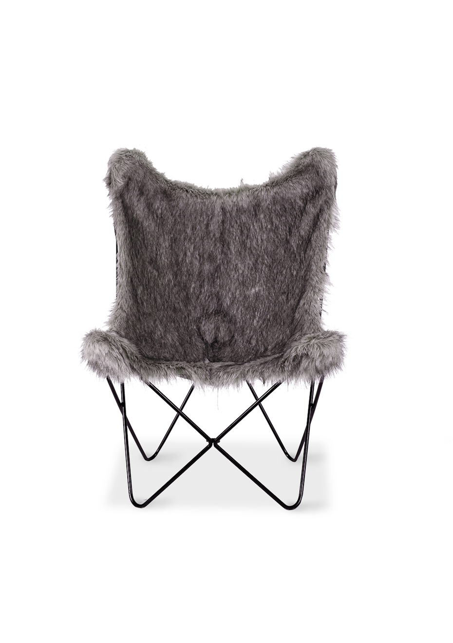 Fur Butterfly Chair Furniture By Design Butterfly Chair Moggy Grey Fur Grey