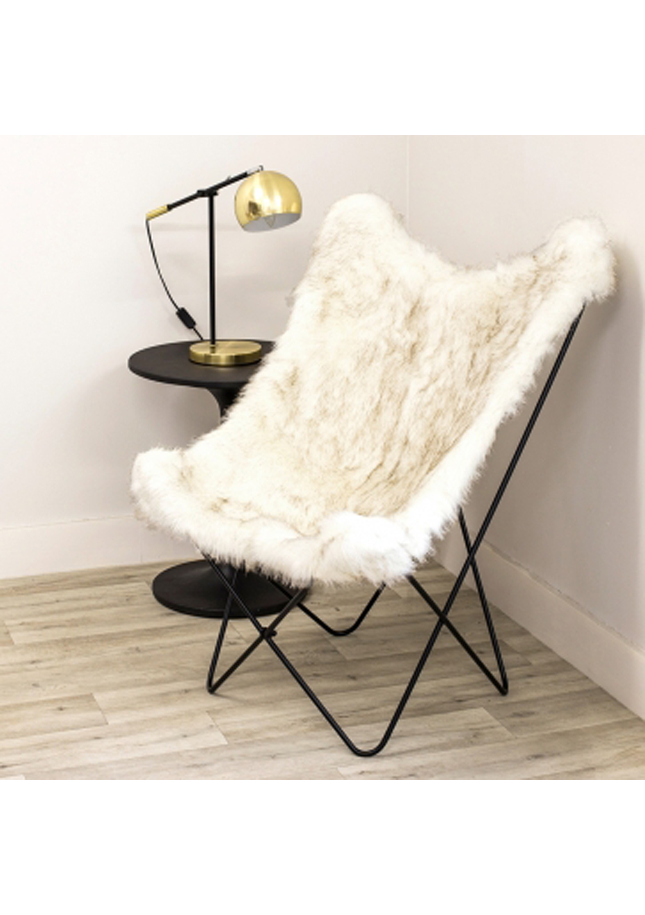 Fur Butterfly Chair Furniture By Design Butterfly Chair Arctic White Fur White
