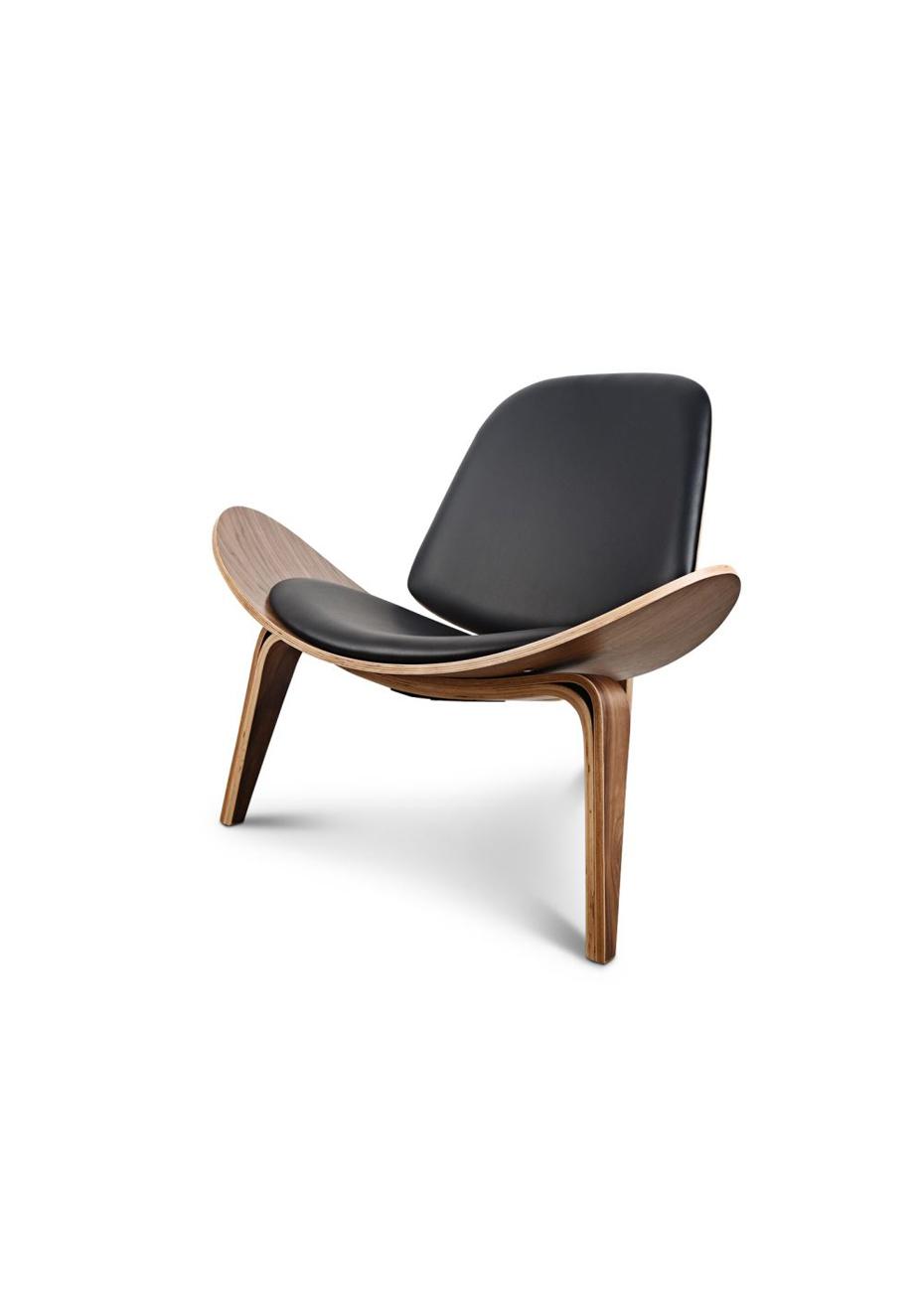 shell chair replica gaming recliner designer occasional black scandi