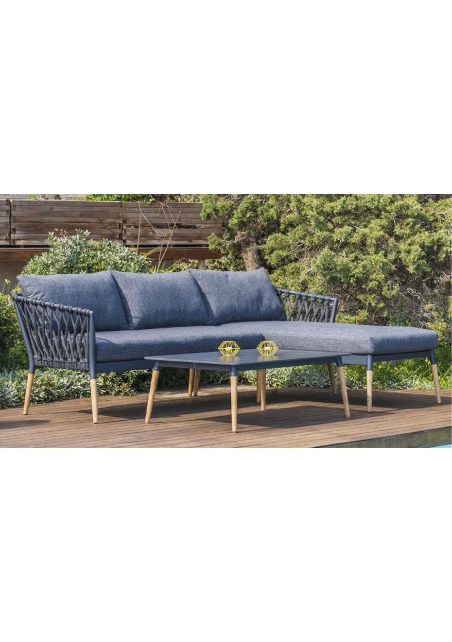 ipanema chaise lounge set charcoal teak