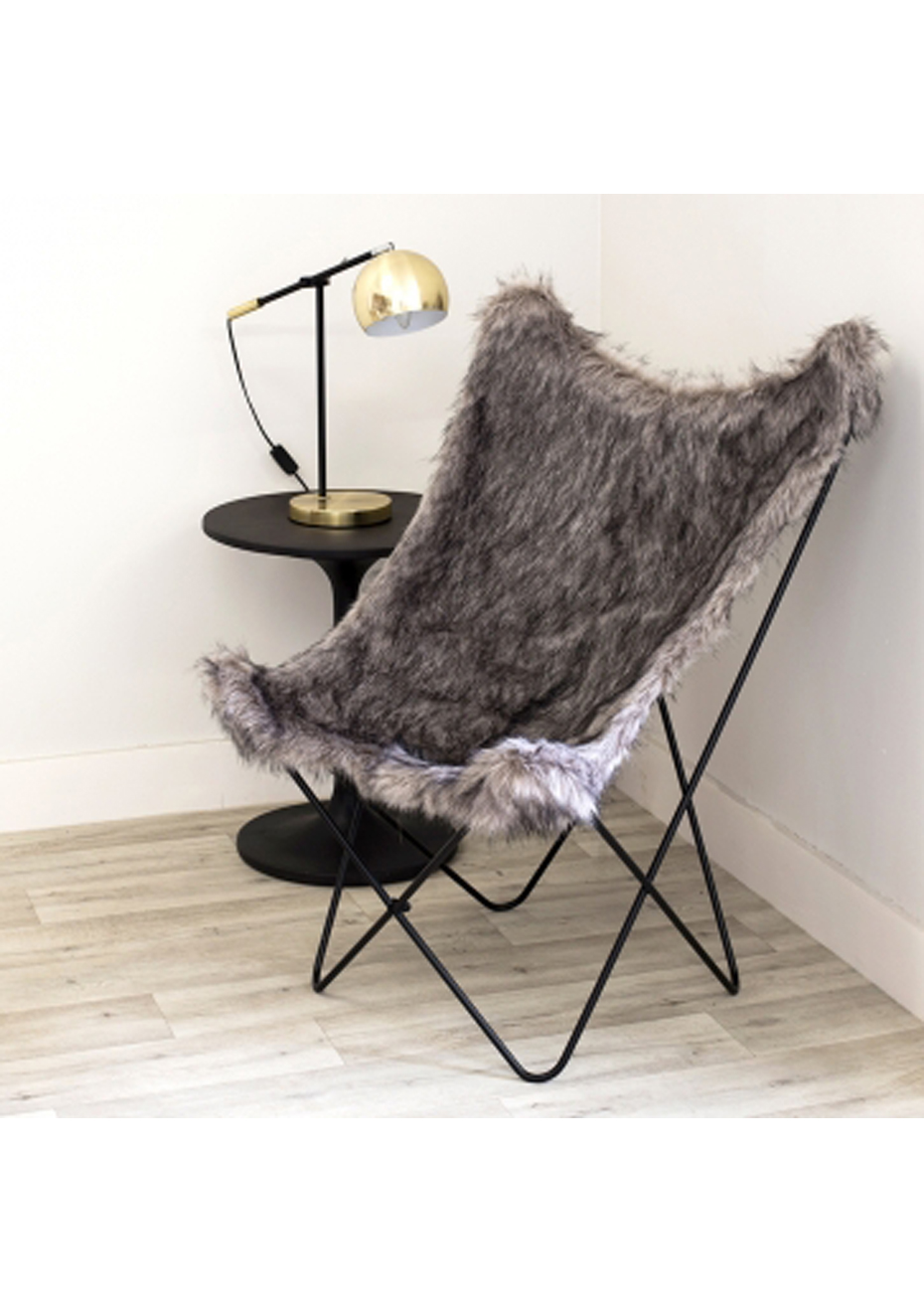 Fur Butterfly Chair Furniture By Design Butterfly Chair Moggy Grey Fur