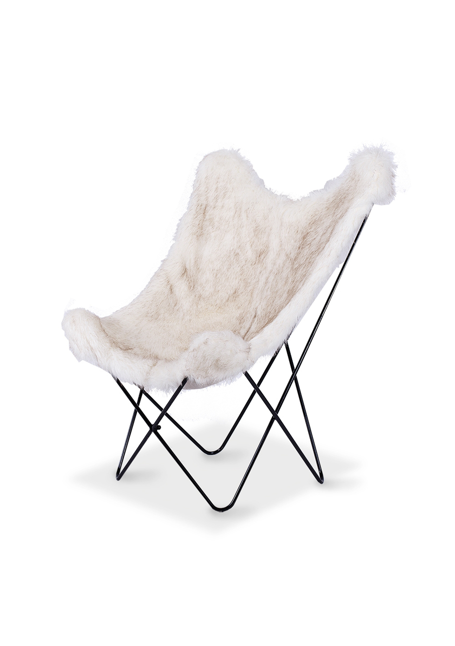 white fuzzy chair diy wood refinishing furniture by design butterfly arctic