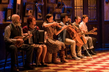 Landmark Productions presents Once at the Olympia Theatre, 30 June - 26 August, 2017 oncemusical.ie L-R Bill Murphy, Sandra Dowd Callaghan, Ruth Smith, Turlough Gundawardhana and Sam McGovern Photo:Patrick Redmond