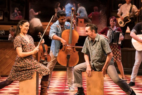 Landmark Productions presents Once at the Olympia Theatre, 30 June - 26 August, 2017 oncemusical.ie L-R Ruth Smith, Turlough Gunawardhana, Phelim Drew and Sandra Dowd Callaghan. Photo:Patrick Redmond