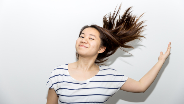 """""""Movement is a part of who I am, you'll never see me sitting around for too long before I get antsy. Maybe it also is a part of growing up in New York, speed and limited time. Catch me power walking through the halls or bopping my way into class. Movement empowers me."""" - Katherine Li #CELEBRATEWOMEN"""