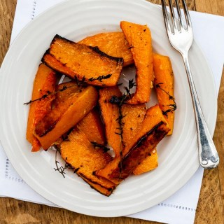 Baked Squash with Garlic and Thyme
