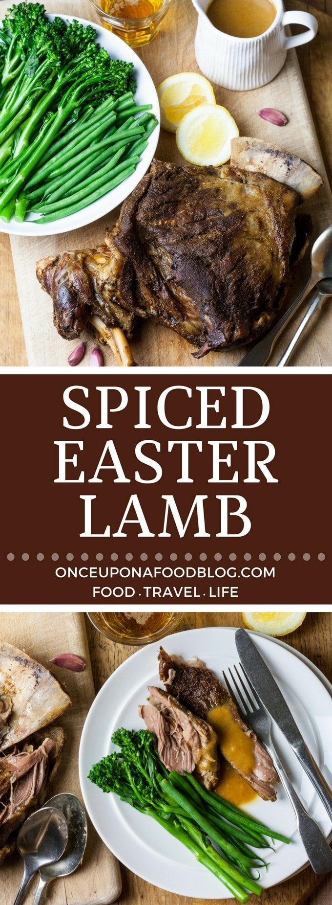 A fantastically easy recipe for a fragrant, full of flavour leg of lamb which even makes its own sauce. Perfect served with fluffy mashed potatoes and steamed veg. #SpicedLamb #Easter #EasterLamb #Recipe