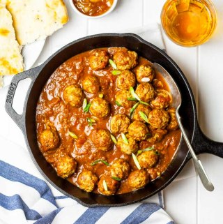 Spiced Lamb Meatballs in a Fragrant Tomato Sauce