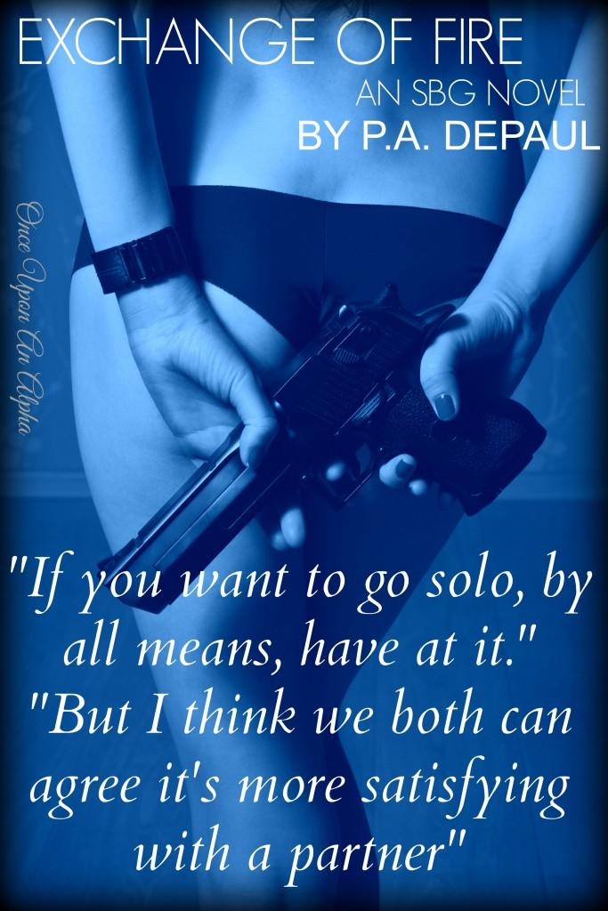 Young elegant lady in underwear holding gun