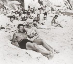 John Garfield and Lana Turner in Laguna Beach, filming THE POSTMAN