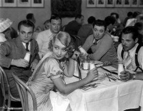 James Cagney, Frank McHugh, Joan Blondell and friends in the commissary.