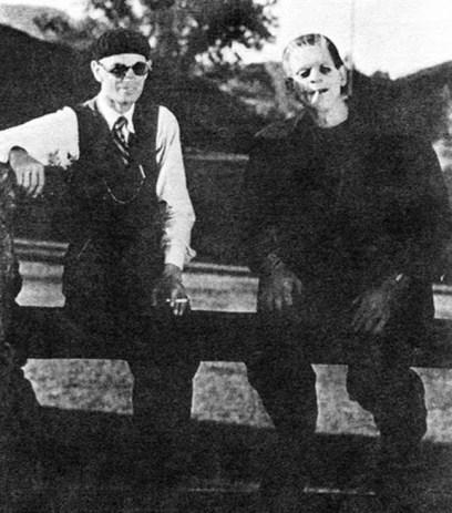 Whale and Karloff take a break in 1931