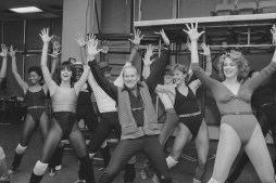 Rehearsing Big Deal show in 1986