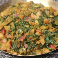 Mooli Palak -- Radish cooked with Spinach and Indian spices