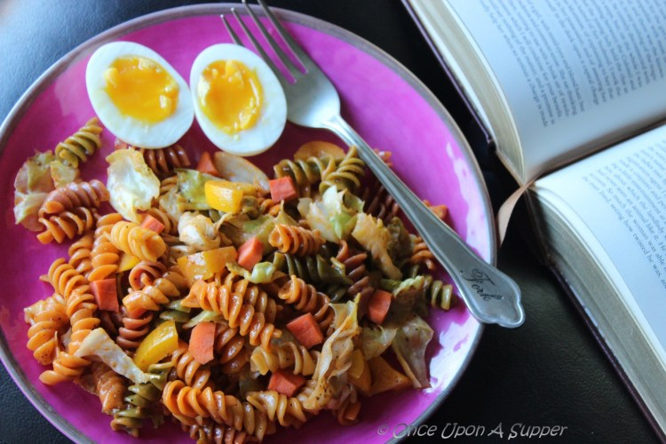 French vegetable Rotini Salad — has quite the crunch you need!