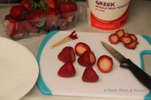 Frozen Yogurt covered Strawberry Popsicles - a happy healthy celebration!