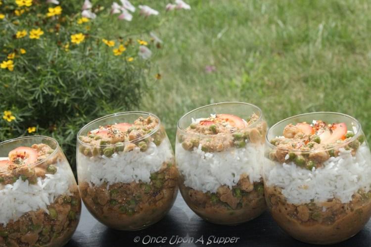 Mughlai Matar Makhana -- green peas & popped lotus seeds in regal curry