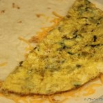 Egg and veggie breakfast Quesadilla -- easy and nutrition rich Mexican favorite