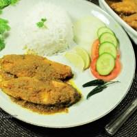 Tilapia Macher Dhone Kalia -- Bengali style fish in spicy coriander sauce