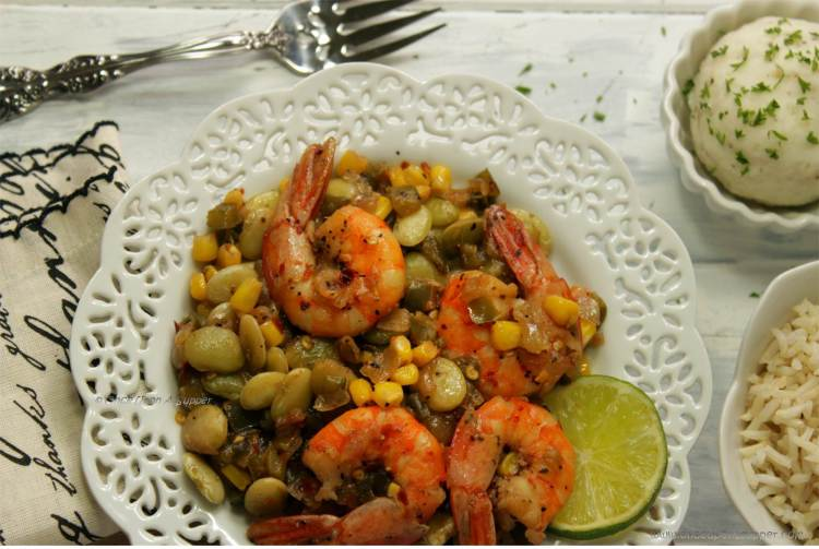 Spicy Shrimp Succotash — hearty, easy, quick, nourishing and timeless