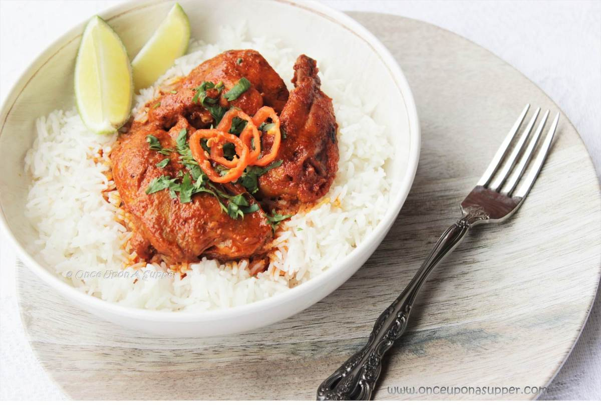 Butter Tandoori Chicken Curry -- it's fiery, it's red, it's deliciously addictive