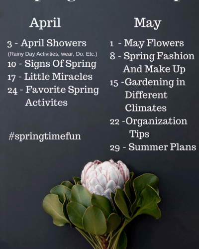 TBB Spring Time Fun Series:  April Showers, 4.3.2017