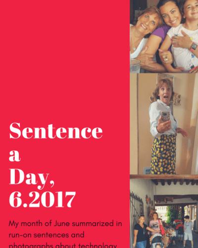 Sentence a Day, 6.2017