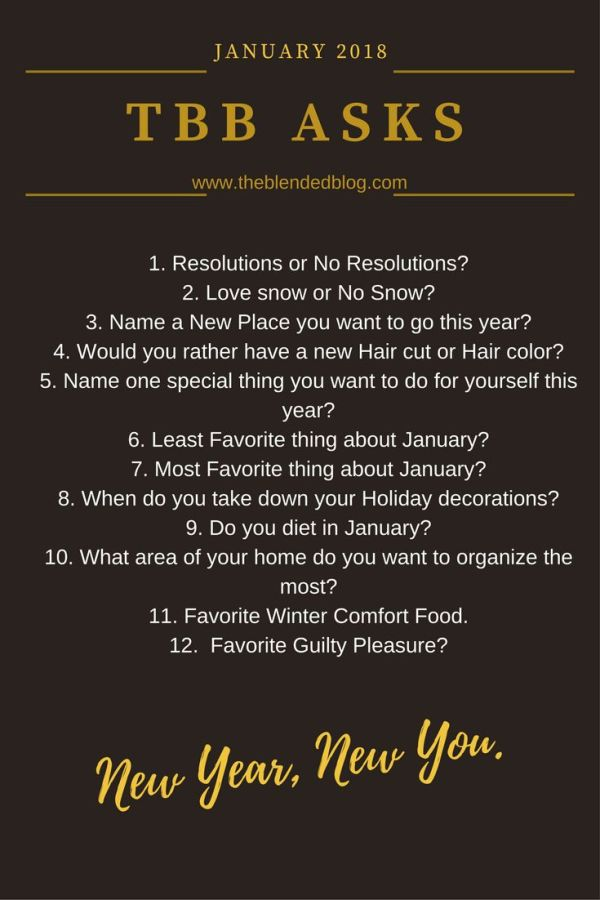 12 New Year's Questions: TBB Asks