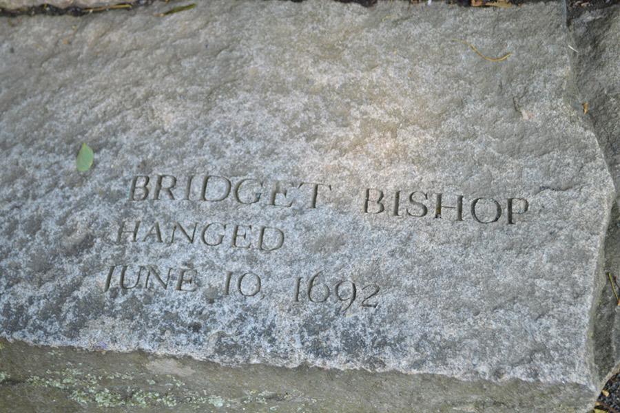 Bridget Bishop grave marker Salem Witch Trials Memorial