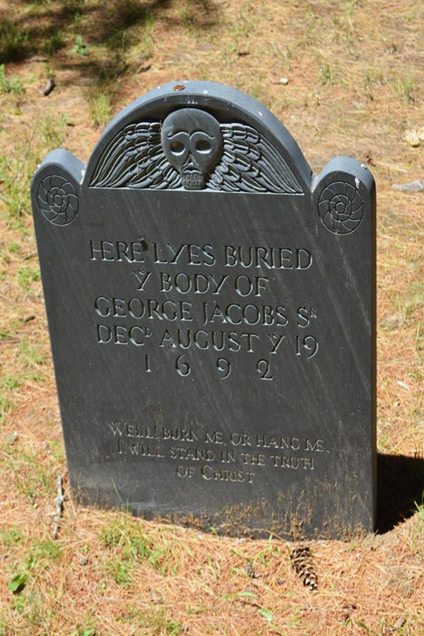 George Jacobs Sr grave Salem village