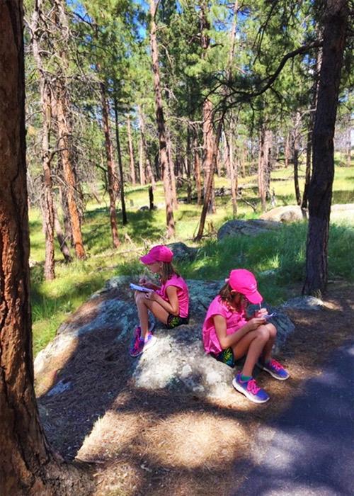 Junior Ranger twins Devils Tower NPS